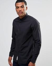 Рубашка слим с закругленным воротником Produkt - Черный