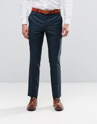 Зеленые облегающие брюки Farah - Бутылочный зеленый
