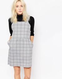Платье-сарафан в клетку Influence - Серый