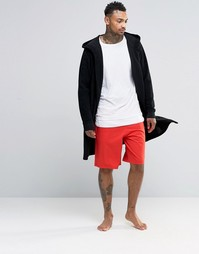 ASOS Loungewear Basketball Shorts With Printed Waistband - Красный