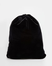 Вельветовый рюкзак со шнурком Mi-Pac - Черный