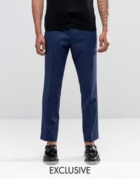 Укороченные брюки слим в крапинку Noak - Темно-синий