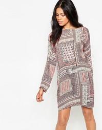Платье-туника с принтом Diya - Розовый