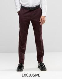 Строгие зауженные брюки в крапинку Heart & Dagger - Burgundy
