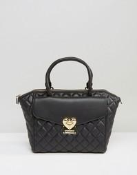 Стеганая сумка-тоут Love Moschino - Черный
