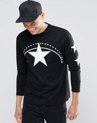 Лонгслив Playground Star - Черный