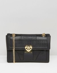 Love Moschino Textured Shoulder Bag - Черный