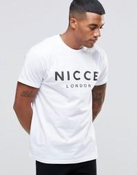 Футболка с перфорированным логотипом Nicce London - Белый