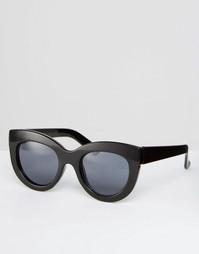 Массивные солнцезащитные очки кошачий глаз ASOS - Черный