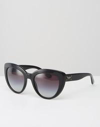 Солнцезащитные очки кошачий глаз Dolce & Gabanna - Черный