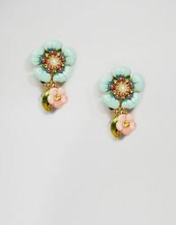Серьги-подвески с цветочками Les Néréides
