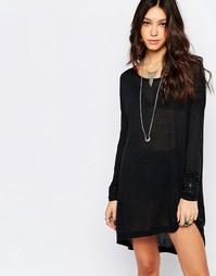Шерстяное платье с длинными рукавами One Teaspoon Soho - Черный