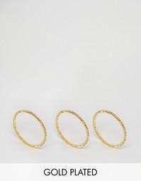 Набор из 3 колец с витым дизайном Gorjana - Золотой