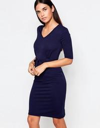 Платье-футляр миди с ремнем Club L - Темно-синий