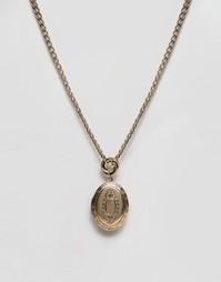 Ожерелье-цепочка с медальоном ASOS - Античный золотой