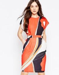 Платье с крупными маками Liquorish