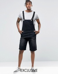 Черный комбинезон‑шорты Liquor & Poker - Черный