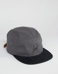 Саржевая кепка с надписью Volley HUF - Серый