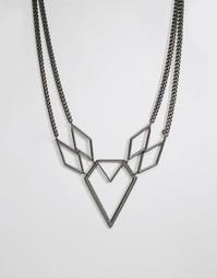 Ожерелье геометрической формы Pilgrim - Gunmetal