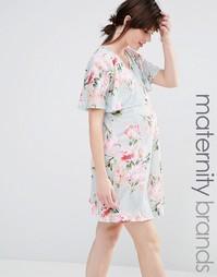 Свободное платье для кормления с принтом Bluebelle Maternity - Мульти