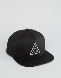 Бейсболка с треугольником HUF - Черный
