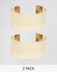 2 браслета-манжета в минималистском стиле ASOS - Золотой
