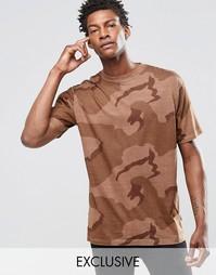 Камуфляжная oversize‑футболка Reclaimed Vintage - Коричневый