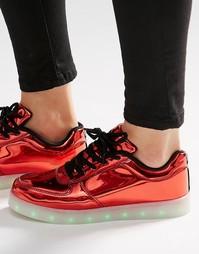 Кроссовки со светящейся подошвой Wize & Ope - Laminated red