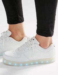 Белые кроссовки со светящейся подошвой Wize & Ope - Белый
