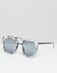 Большие круглые солнцезащитные очки в стиле преппи с металлической отд Asos