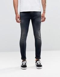 Темные эластичные джинсы скинни Replay Jondrill - Темно-выбеленный