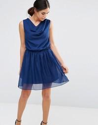 Платье с драпировкой спереди Pussycat London - Синий