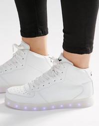 Высокие кроссовки со светящейся подошвой Wize & Ope - Белый