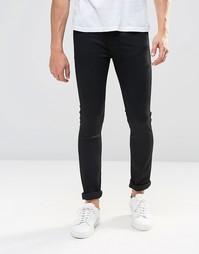 Черные супероблегающие джинсы с покрытием Levis Line 8 519