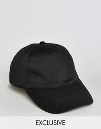 Черная бейсболка с логотипом сзади Reclaimed Vintage - Черный