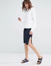 Вязаная юбка‑карандаш Samsoe & Samsoe Ronda - Темно-синий Samsøe &; Samsøe