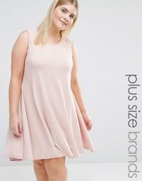 Свободное платье без рукавов со вставками Pink Clove - Розовый