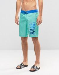 Зеленые шорты для плавания Hollister - Зеленый
