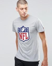 Футболка с принтом щита и надписью NFL New Era - Серый