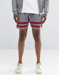 ASOS Knitted Shorts with Stripes - Серый