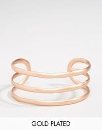 Позолоченный браслет-манжета Pilgrim - Розовое золото