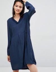 Свободное платье Just Female Laura - Синий