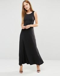Трикотажное платье макси Pussycat London - Черный