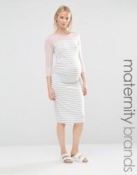 Домашнее облегающее платье для беременных Bluebelle Maternity - Серый