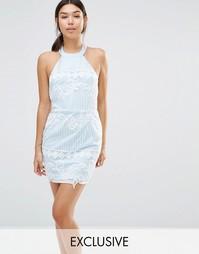 Эксклюзивное облегающее платье из органзы с вышивкой Boohoo
