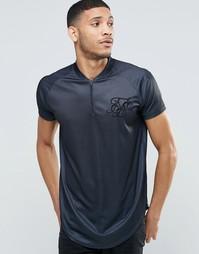 Бейсбольная футболка SikSilk - Черный