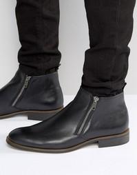 Кожаные ботинки на молнии Dune Maccabee - Черный