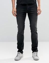 Выбеленные черные джинсы слим Religion Noize - Выбеленный черный