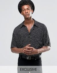 Фестивальная рубашка классического кроя Reclaimed Vintage - Черный