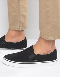 Парусиновые кроссовки‑слипоны Jack & Jones - Черный
